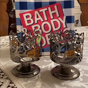 Pair of bath & body works candle holder